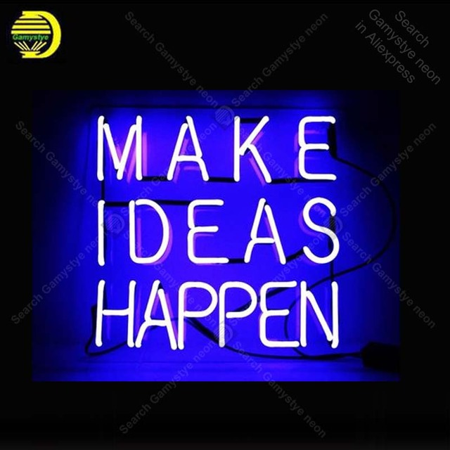 Neon Sign for Make Ideas Happen Neon Bulb sign handcraft Home neon signboard Decorate Hotel neon wall lights anuncio luminos