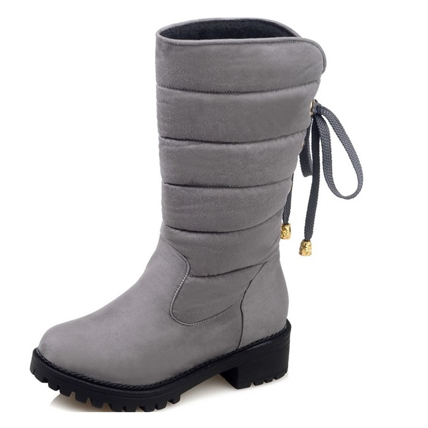 ФОТО new 2016 autumn winter casual snow boots waterproof women ankle boots thermal flat slip-resistant fashion winter shoes woman