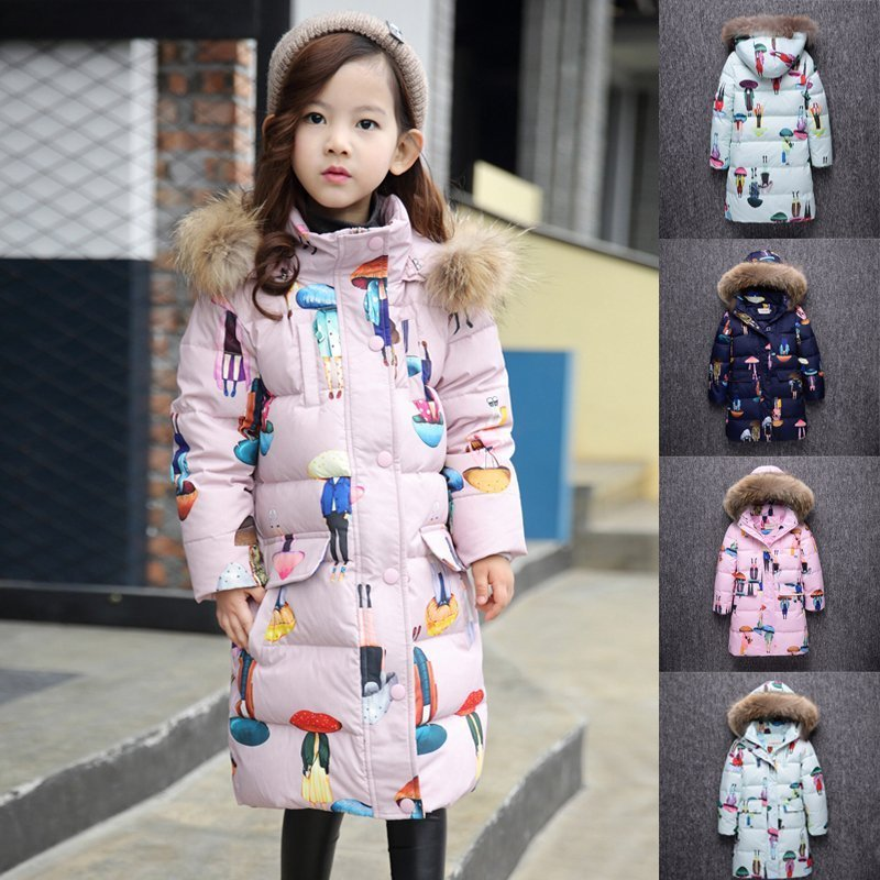 2017 children down jacket girls in the long section of the new thick coat communication in children with down syndrome