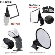 Foleto פלאש אור רך מפזר רך תיבת מהירות אור מצלמה אבזר עבור Canon nikon yongnuo Godox speedlite 580ex sb600 sb800