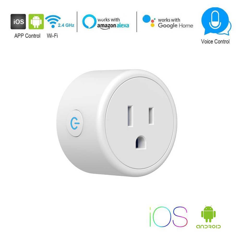 Bezprzewodowy inteligentny przełącznik telefon App zdalne sterowanie głosem gniazdo zasilania WiFi inteligentny Timer wtyczka wtyczka usa Alexa inteligentnego domu