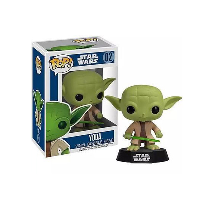 Funko pop Star Wars Jedi Knight Master Yoda PVC Action Figure Collectible Model Toy Doll Gift