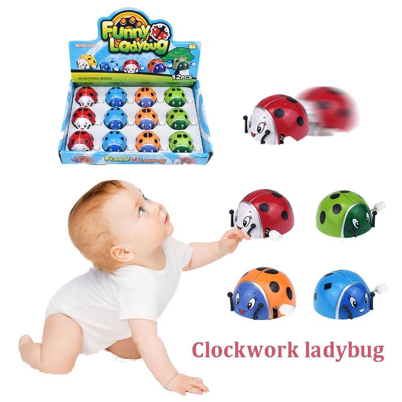 Заводная Божья коровка заводные игрушки игрушка Божья коровка пластмассовый сальто Заводной развивающий подарок развлечения маленькая игра хобби
