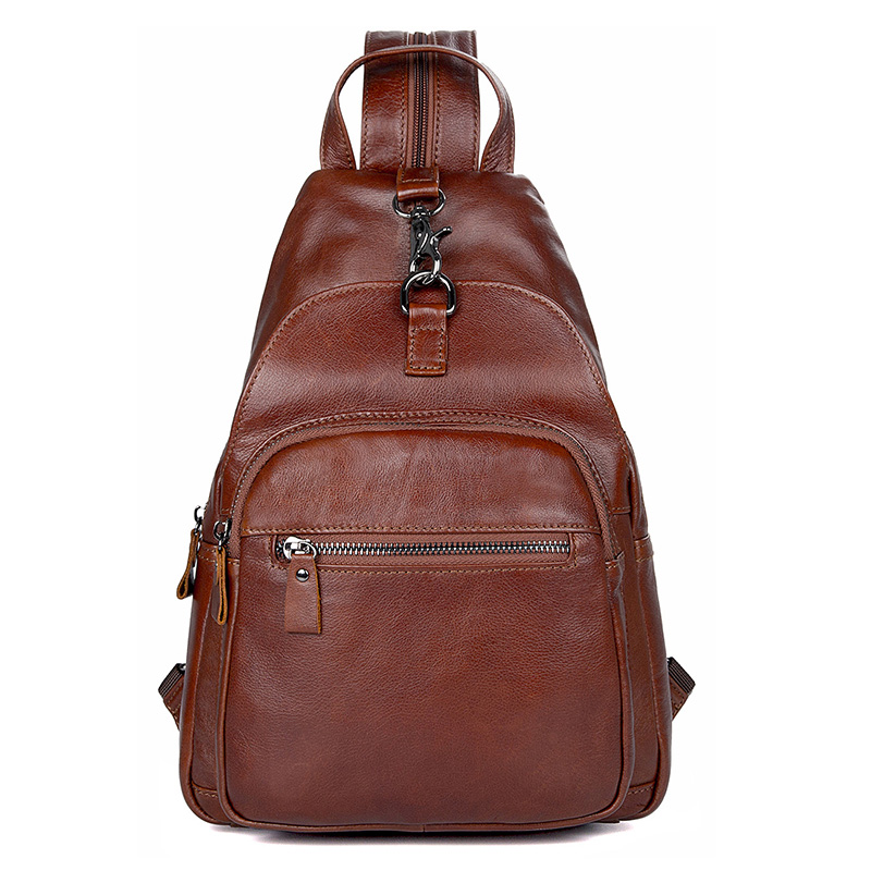 Chest Bag Men Women Cow Leather Brown Daily Sling Bag Unisex Brown High Quality Travel Casual Brand Cute Chest Shoulder Bags Chest Bag Men Women Cow Leather Brown Daily Sling Bag Unisex Brown High Quality Travel Casual Brand Cute Chest Shoulder Bags