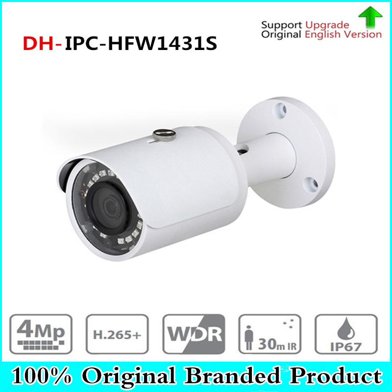 DH 4mp Bullet Camera IPC-HFW1431S WDR Day/ Night Infrared CCTV POE Camera Support IP67 Waterproof Security Camera System brand 4mp bullet camera ipc hfw1431s wdr day night infrared cctv poe camera support ip67 waterproof security camera system