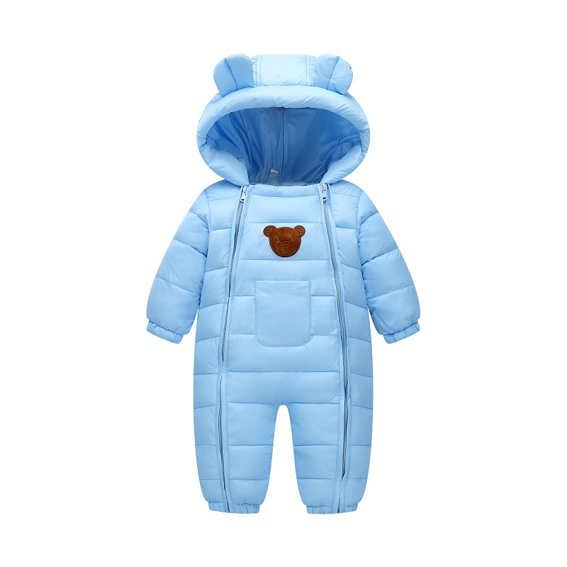 Winter Jumpsuit Outerwear Overalls Newborn Romper Parkas Warm Cotton One-Piece Padded