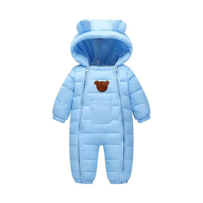 2018 Snowsuit Baby Sneeuw Dragen Katoen Gewatteerde Een Stuk Warme Bovenkleding Kid's Overalls Romper Kids Winter Jumpsuit Pasgeboren Parka