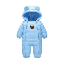 2018 Snowsuit Baby Snow wear Cotton Padded One Piece Warm Outerwear Kid's Overalls Romper