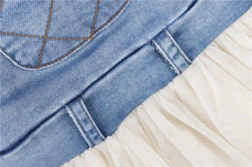 be0ff286c68 Online Shop Kids Baby Girls Toddler Summer Overalls Denim Frilly Tutu Dress  6M-4Y Outfits