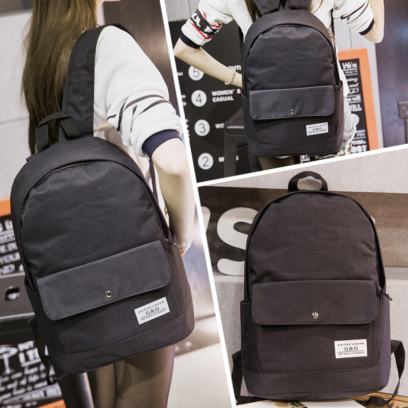 Japan and South Korea version of the schoolbags female shoulder bag small fresh high high school backpack canvas computer bag