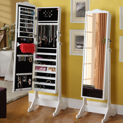 Korean Garden Landmark Dressing Mirror Jewelry Storage Cabinets Locker  Mirror Bedroom Mirror Full Length Mirror
