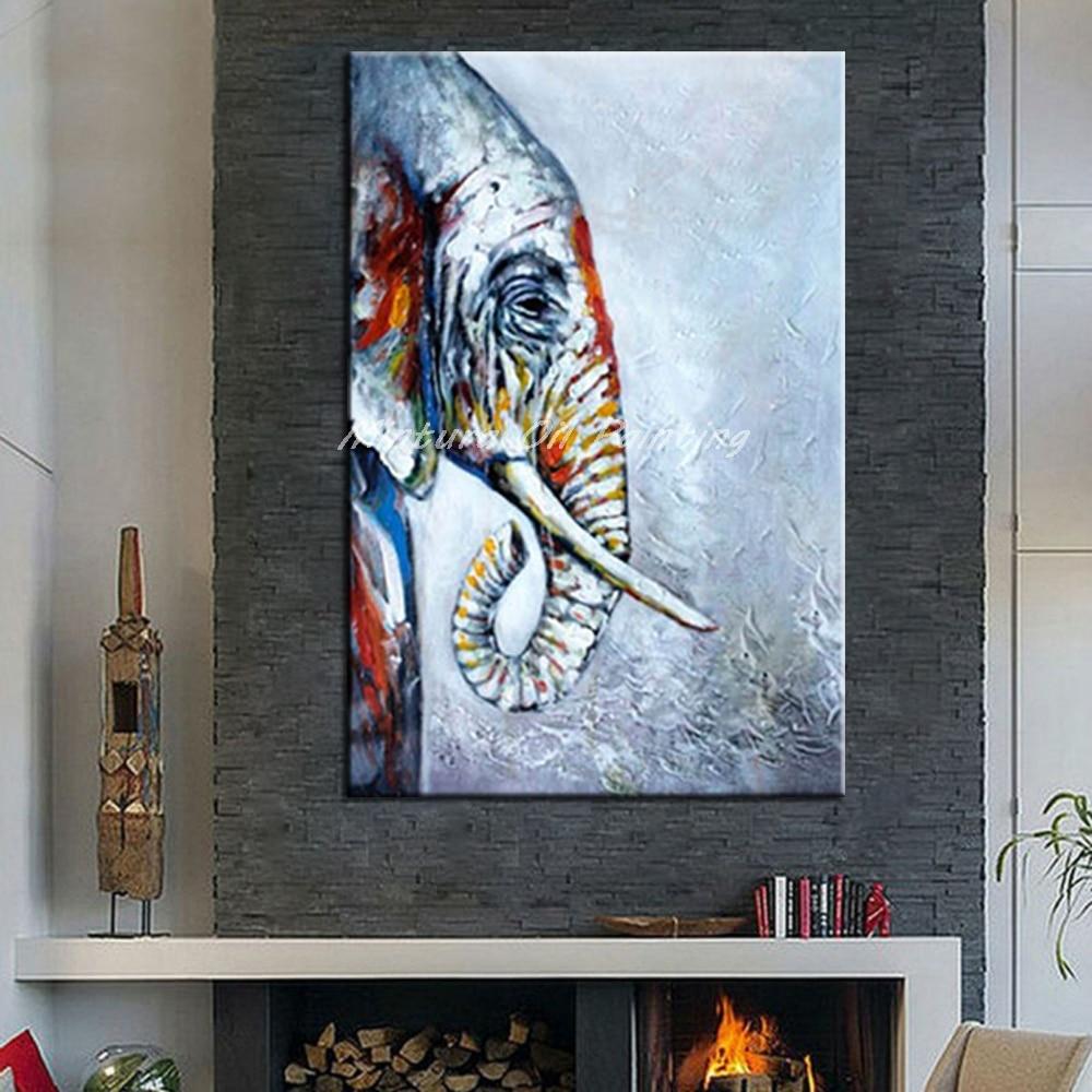 Mintura Rahmenlose Gemälde Bild Handgemalt Tier Ölgemälde Auf ...
