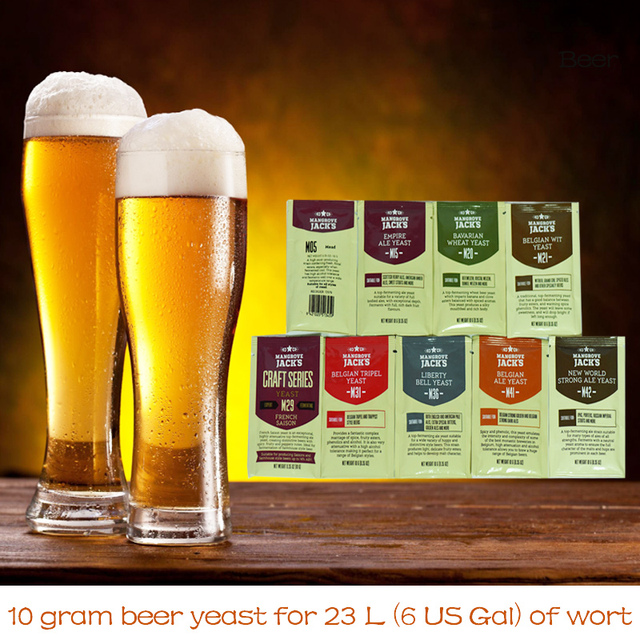 10g Beer Yeast Home Craft Beer Making Yeast Fermentation Yeast Oenology Products Home Brewing Beer Products