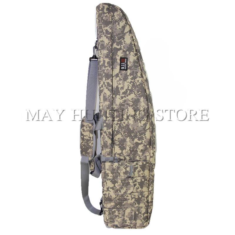 Outdoors Tactical Gun Shooting Bag With AK Magazine Pouch and Shoulder Straps 47inch Soft Rifle Case