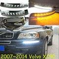 Автомобиль для укладки, XC90 дневного света, 2007 ~ 2015, СВЕТОДИОДНЫЕ, Свободный корабль! 2 шт., автомобиль-детектора XC90 противотуманные фары, автомобиль крышки, XC 90