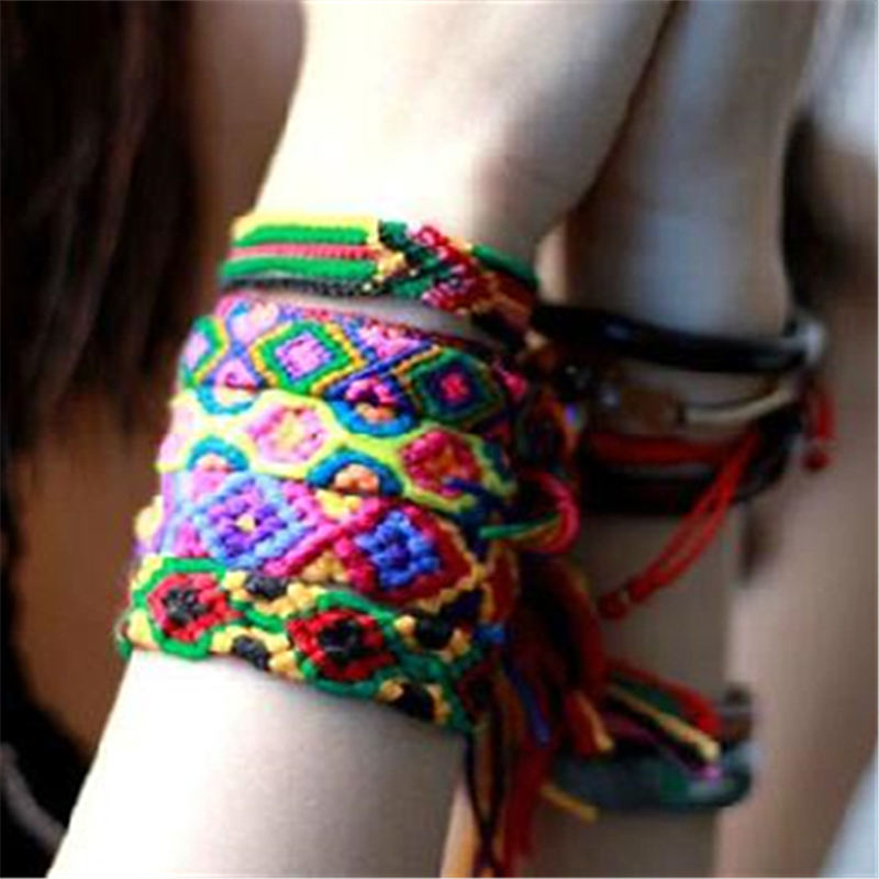 Colorful Nepal Wool Friendship Bracelets Special Gift for Valentina`s Day ...