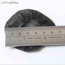 Linhuipad 100pack 6cm Black Nonwoven Sanitary Headphone Covers Disposable Earmuff Free shipping