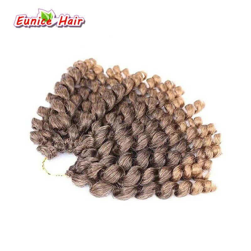 Ombre палочка Curl вязанная косами волос 10 дюймов отказов твист Freetress Gogo вьющиеся нервный палочка Curl ямайский Синтетические волосы