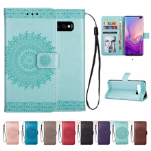 PU Leather case for Samsung Galaxy S10 Lite S10 plus S9 S8 S7 edge S6 Cover Flip Wallet For J3 J5 J7 J4 J6 A5 A6 A7 2018 Coque(China)