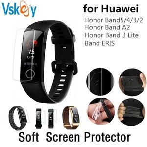 Image 1 - VSKEY 100 sztuk miękkie osłona na ekran z TPU dla Huawei Honor dyskusja zespół 4 5 3 2 A2 ERIS ochraniacz ekranu smart watch ochronne film