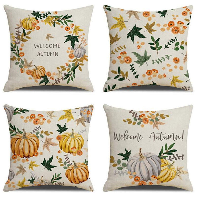 Explosion Models Home Thanksgiving Pumpkin Deciduous Digital Printing Pillows Linen Pillow Cushion Pillowcases