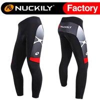 Nuckily Men's Thermal Windproof Cycling Pants 3 D Silicon Gel Pad Windbreaker Fleece Pants MF005