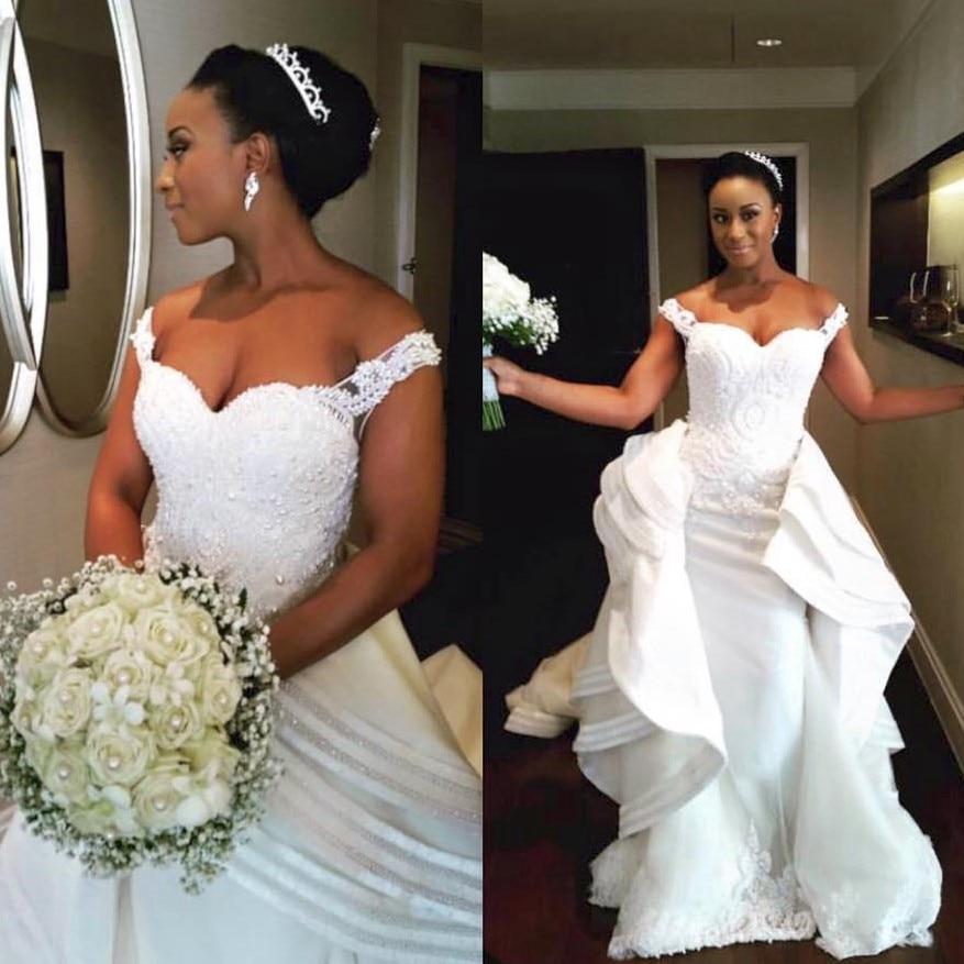 Unique Wedding Dresses 2017 Ruffles Detachable Skirt