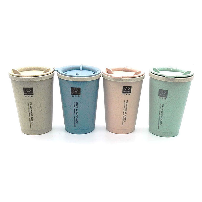 New wheat straw cup fashion vacuum mini student insulation coffee cup autumn portable creative wheat kettle gift cup 280ml