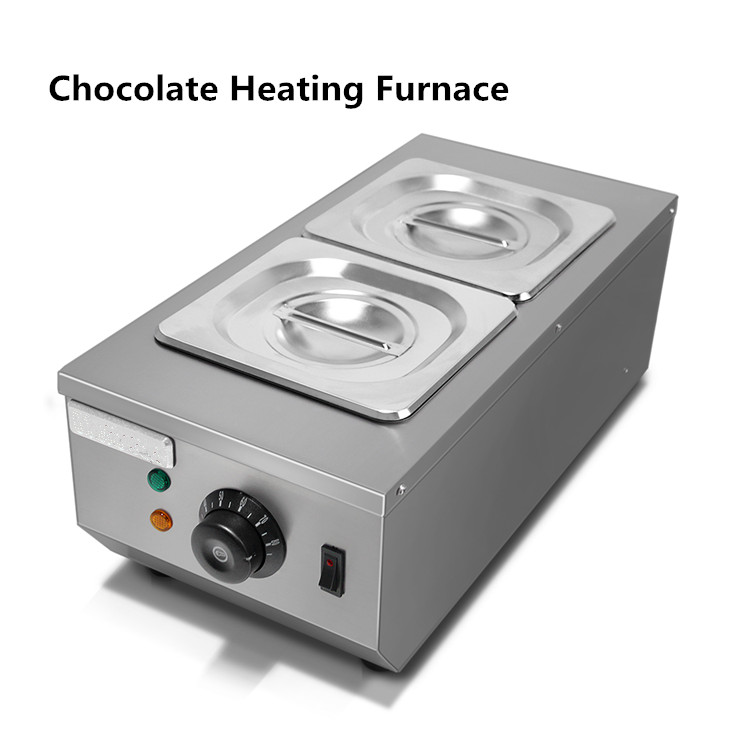 double pan Professional stainless steel commercial chocolate efficient melting furnace 2Trays chocolate heating oven