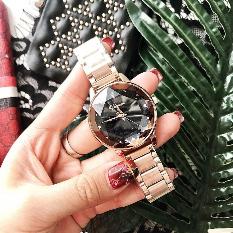 2018 Luksus Brand Lady Krystal Watch Kvinder Kjole Watch Fashion Rose - Dameure - Foto 5