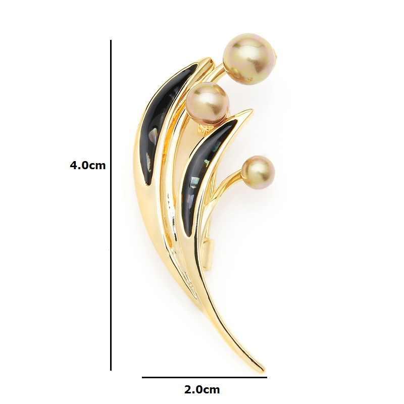 Inokeey Champagne Simulato-perla Spilla Spilli Per Spilli Bouquet Accessori del Regalo Dei Monili Delle Donne Del Vestito 2019