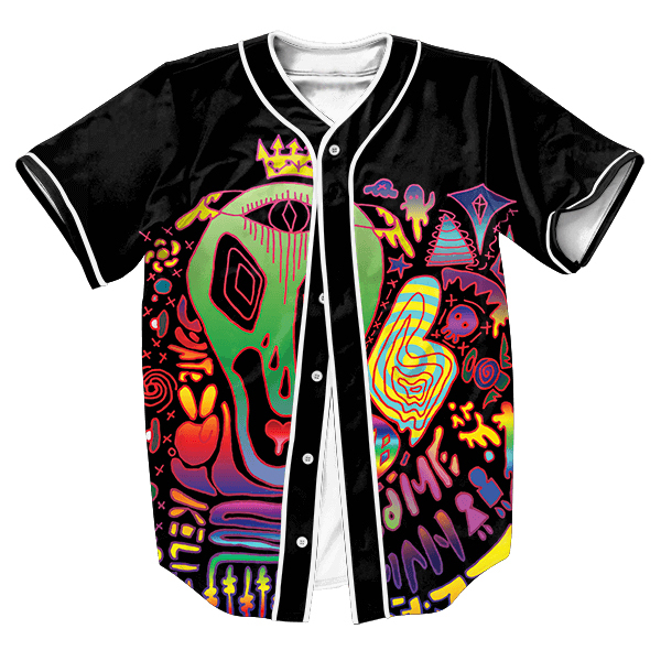 Alien Trip Jersey with buttons Hip Hop Men's shirts Streetwear  shirt  tops Tees Summer Style Casual sweat shirt