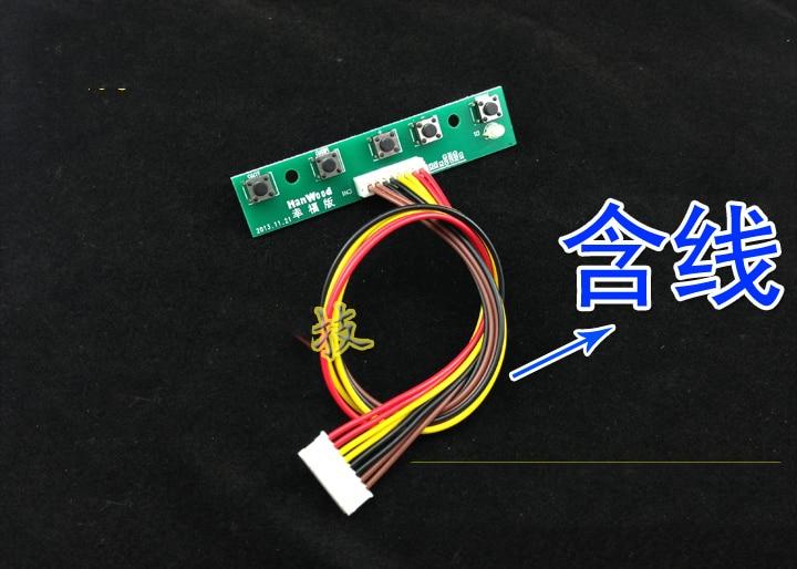 Free Shipping! 30pcs 5 Keys Universal Key Board Switch Button MT6820 Etc. Universal Driver Board