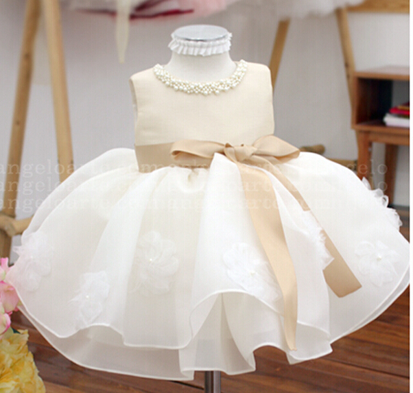 1ba2b47c8368 Champagne Summer Sleeveless girls Tutu Dresses For Wedding