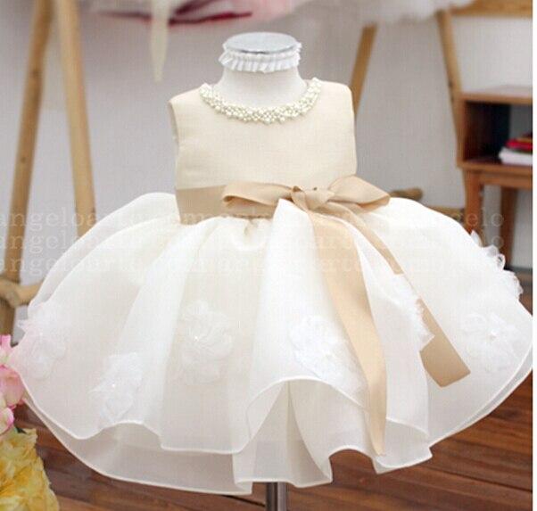 215ba9c5f Vestidos de tutú para niñas sin mangas de verano champán para boda, vestido  de bautizo para niña, traje de cumpleaños infantil princesa en Vestidos de  Mamá ...