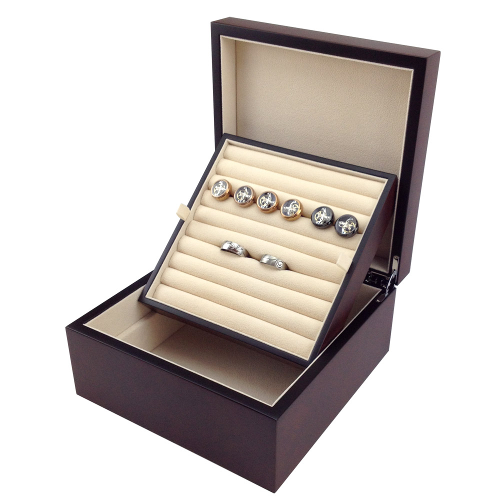 Ordinaire Wooden Cufflink Storage Box Burlwood Ring Box Showcase Display High Quality  Jewelry Collection Case In Watch Boxes From Watches On Aliexpress.com |  Alibaba ...