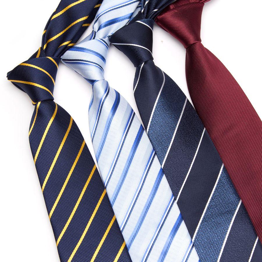 Mens Striped Tie Business Skinny Ties For Men Fashion Corbatas Gravata Jacquard BowTie Wedding Dress Shirt Accessories Neckties