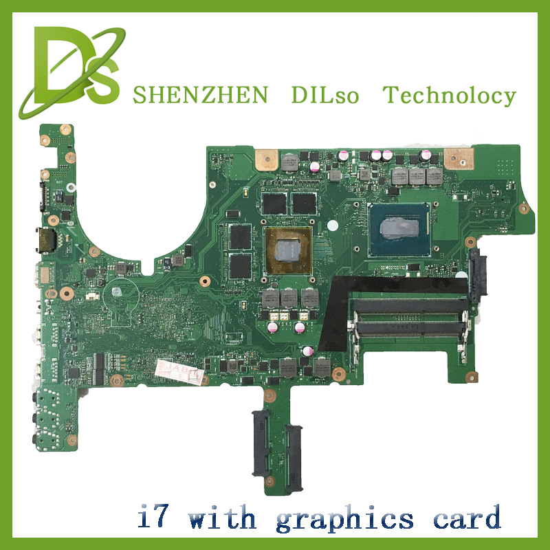 For ASUS G751JM Laptop motherboard G751JM mainboard   with graphics card i7 cpu  100% tested freeshipping for asus x550cc x550cl laptop motherboard x550cc mainboard rev2 0 with graphics card i3 cpu onboard freeshipping 100