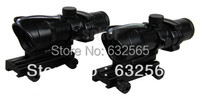 Hot Sale 4x32 ACOG Style Optical Scope With Red Green Fiber Free Shipping