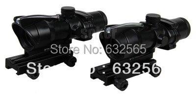 Portée optique style Trijicon 4x32 ACOG avec fiber rouge/verte pour armes et armes fibre réelle