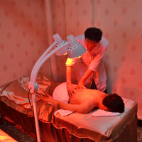 275W double head floor massage therapy infrared therapy heating lamp skin light relief pain physiotherapy