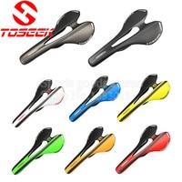 Toseek 8 Colors Ultralight Full 3k T800 Matte Carbon Fiber Bicycle Seat Cushion Saddles Road Bike