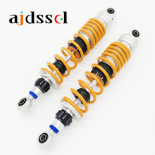 Universal 310mm/330mm/340mm/350mm 12.2/13/13.39/13.78 Motorcycle/Scooter Adjustable Rebound Damping Rear Shock Absorbers