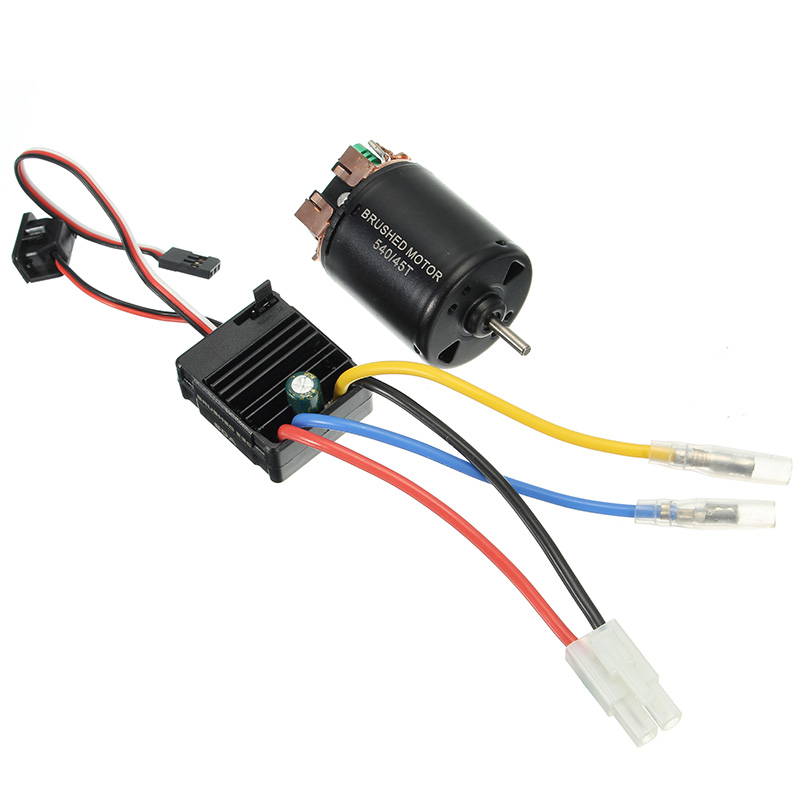 540 Motor 60A ESC Carbon Brushed Shaft 3.175mm For 1/10 RC Car goolrc rc cars motor 540 55t carbon brushed motor 60a esc combo 1 10 axial scx10 rc4wd d90 rc crawler climbing car model part