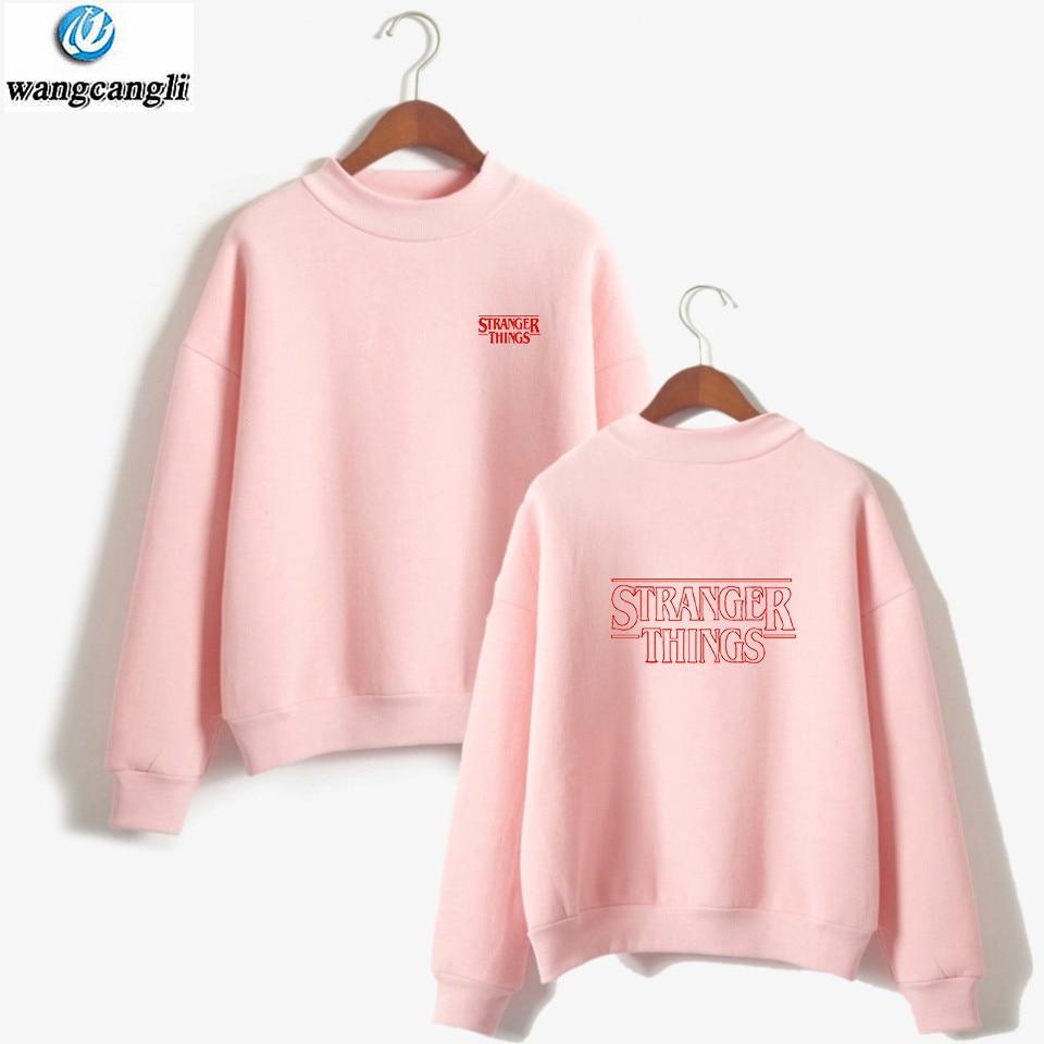 Stranger Things Hoodies Women Letters Print Autumn Harajuku Hip Hop Sweatshirt Girls Fashion Winter Fleece Plus Size Tracksuit
