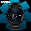 SKMEI Große Zifferblatt Rose Gold Quarz Uhr herren Edelstahl Luxus Business Armbanduhren Top Marken Minimalis Uhr Relogio-in Quarz-Uhren aus Uhren bei