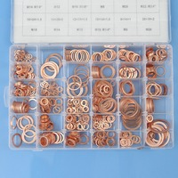 Brand New High Quality 568pcs 30 Size Metric Copper Flat Washer Washer Category Kit Set
