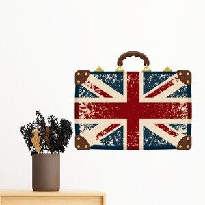 Великобритания Англия Шотландия флаг карта Лондон красный автобус Съемный Настенный стикер художественные наклейки росписи DIY обои для ко...