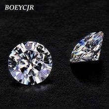 Boeycjr 1ct d Круглый блестящий 65 мм moissanite Свободный Камень
