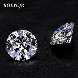 Piedra suelta BOEYCJR 1ct D Color brillante redondo corte 6,5mm moissanita VVS1 excelente corte 3E joyería Fabricación de piedra compromiso